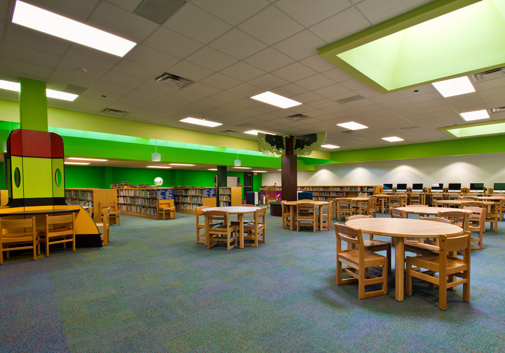 Woodrow Petty Elementary library